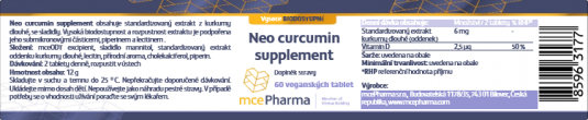 Neo Curcumin supplement ODT - Balení: 60 tablet